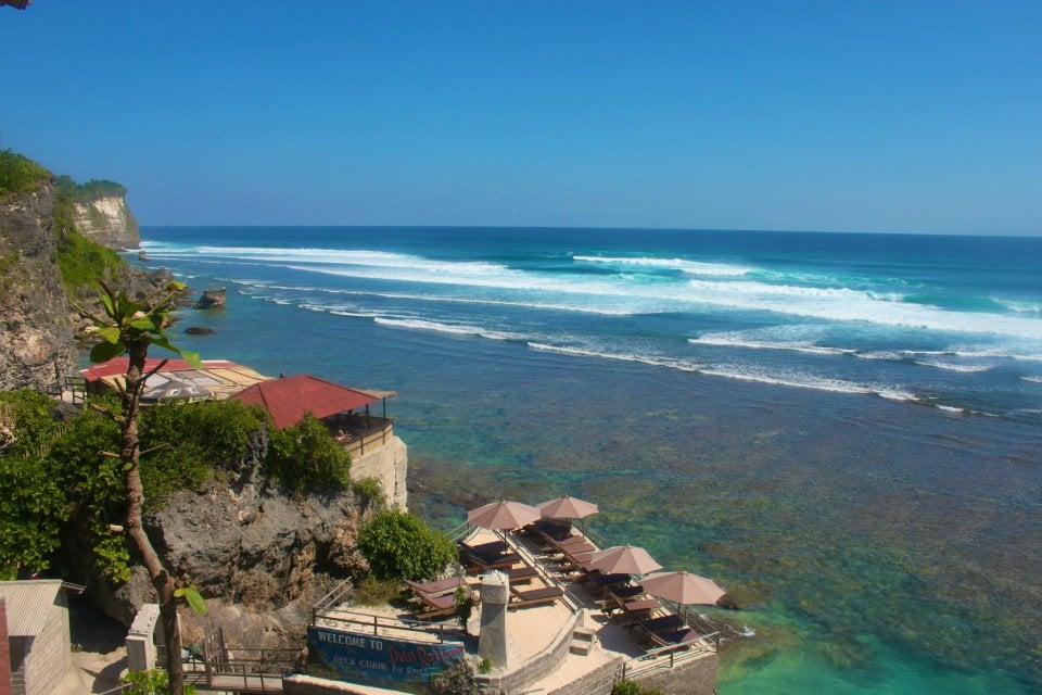 View from the cliff at Uluwatu on the Bukit Peninsula Bali