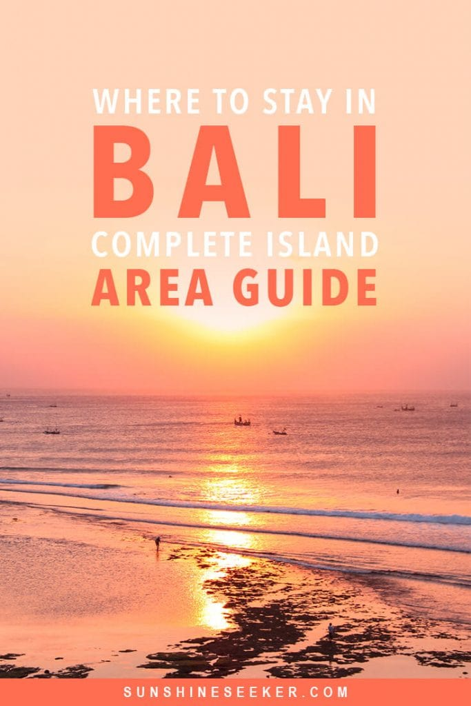 Where to stay in Bali: A complete guide to the different areas on the island. Uluwatu, Canggu, Seminyak, Amed, Jimbaran + many more. Which area in Bali is right for your holiday? #bali #canggu #seminyak #bucketlist #travelinspo