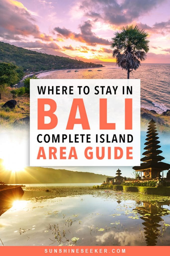 Where to stay in Bali: A complete guide to the different areas on the island. Uluwatu, Canggu, Seminyak, Amed, Jimbaran, Ubud + many more. Which areas in Bali are right for you? #bali #canggu #seminyak #bucketlist #travelinspo
