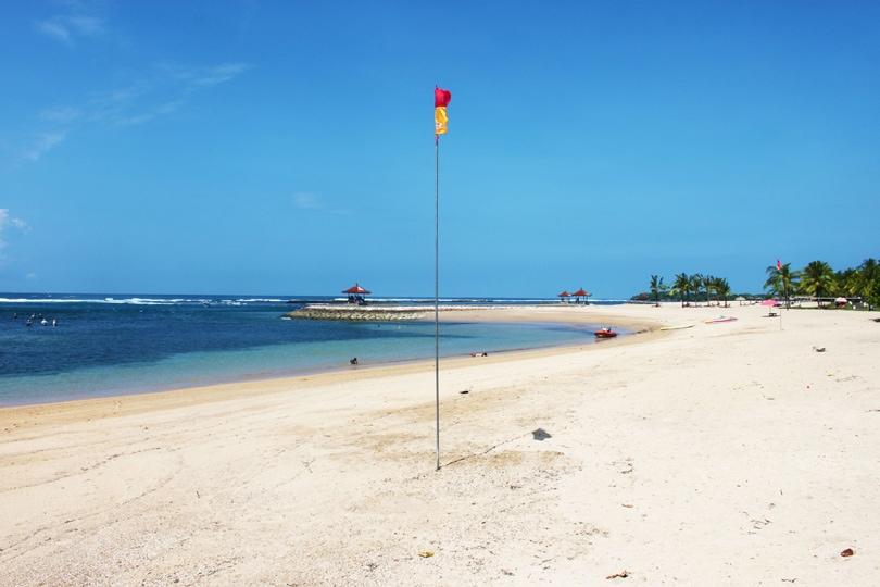 At the beach in Nusa Dua, Bali guide