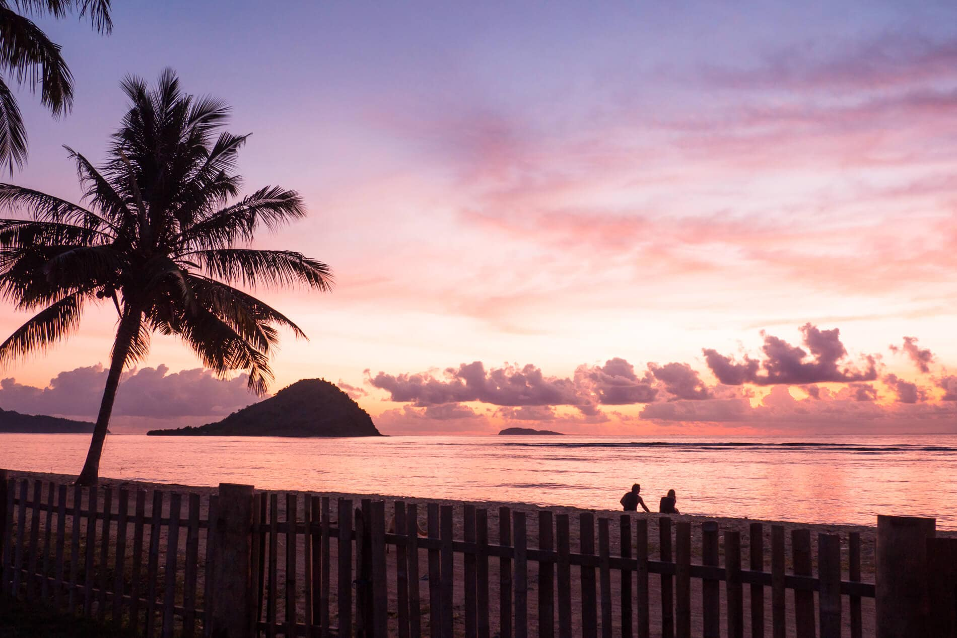 Sunset over Kertasari Beach outside Whales & Waves Resort in Sumbawa, Indonesia - The most amazing place I've ever been