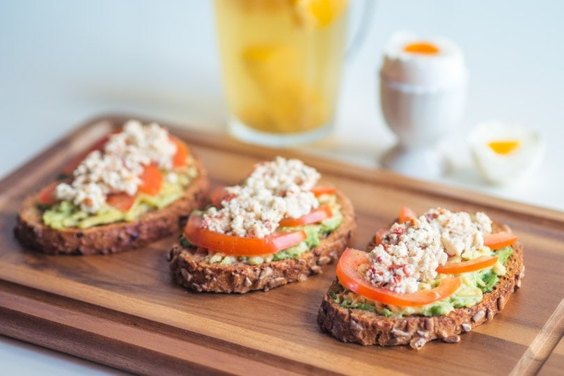 The best avocado on toast with feta cheese