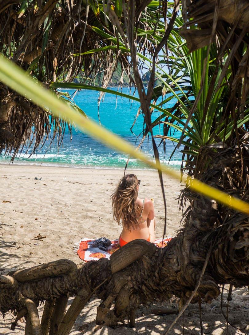 Sunbathing at Mawun Beach, South Lombok