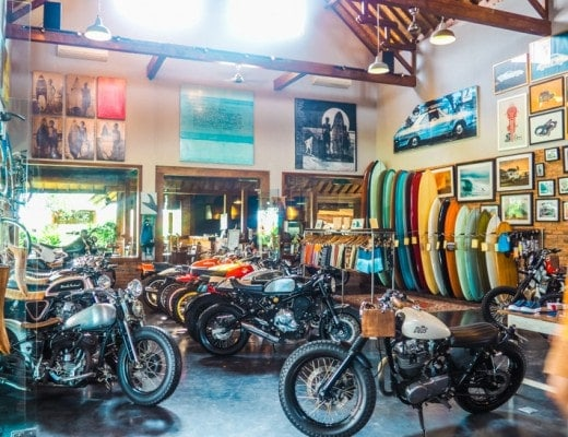 Deus ex Machina Temple of Enthusiasm, the best restaurant in Canggu