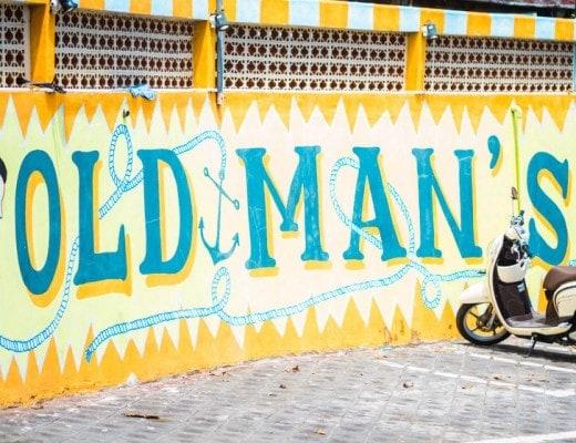 Old Man's Canggu right at Batu Bolong Beach