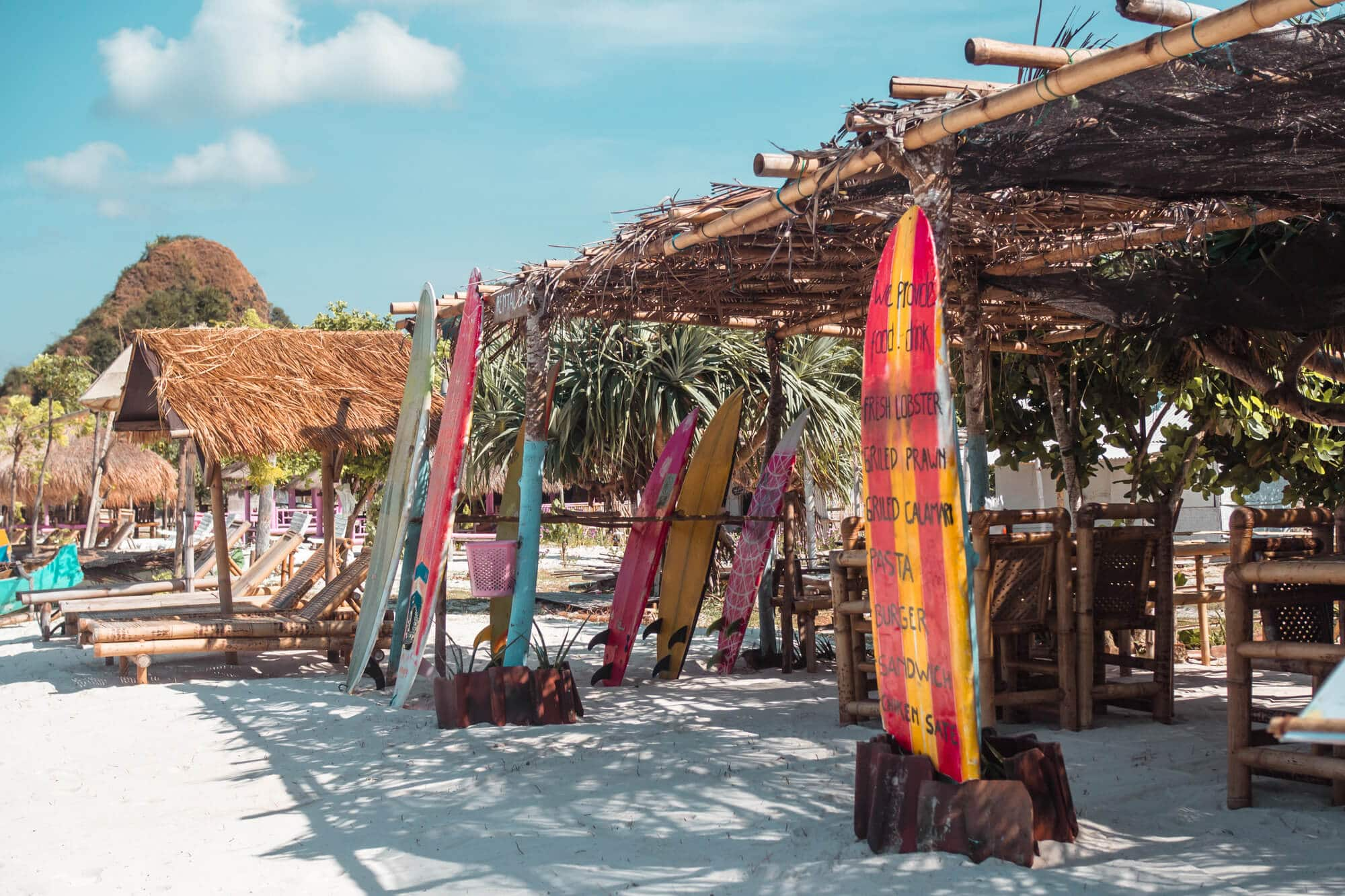 Top 5 things to do in Lombok - Spend the day at Warung Surfer Beach on Pantai Tanjung Aan #lombok