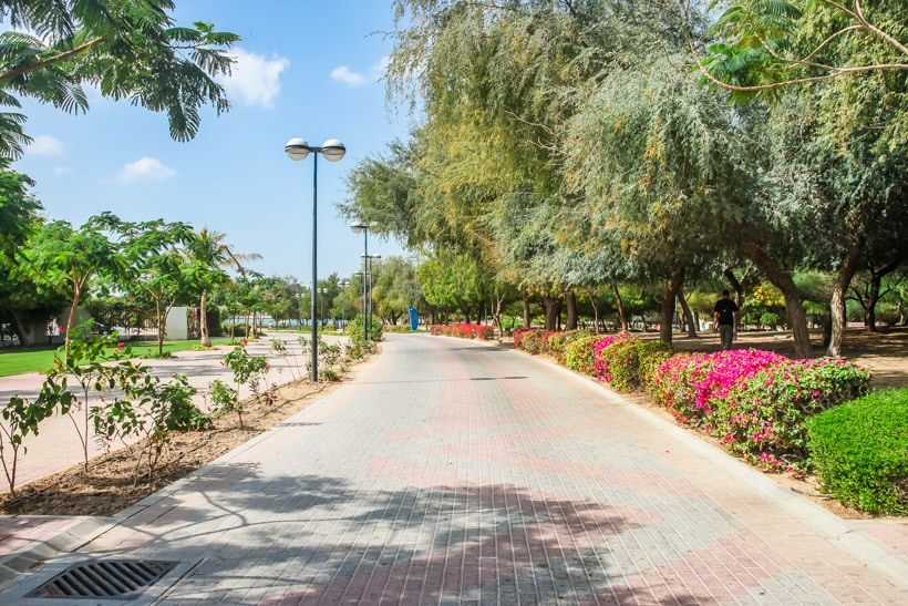 The Beautiful Al Mamazar Beach Park