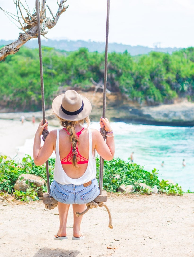 Swing at Dream Beach Nusa Lembongan Bali