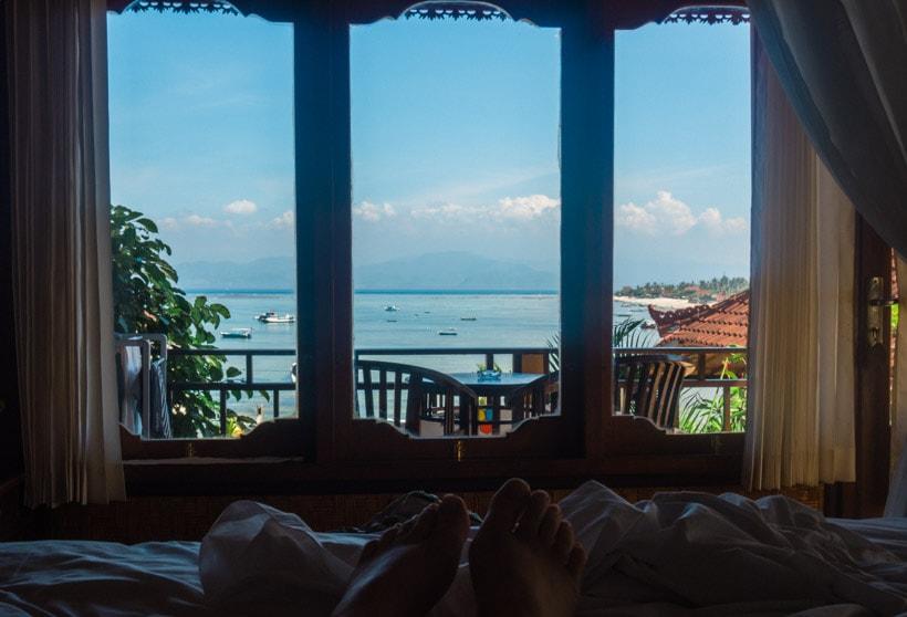 View from Oka 7 Bungalows Nusa Lembongan
