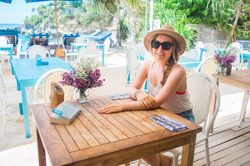 Travel Blogger at Sandy Bay Beach Club Nusa Lembongan