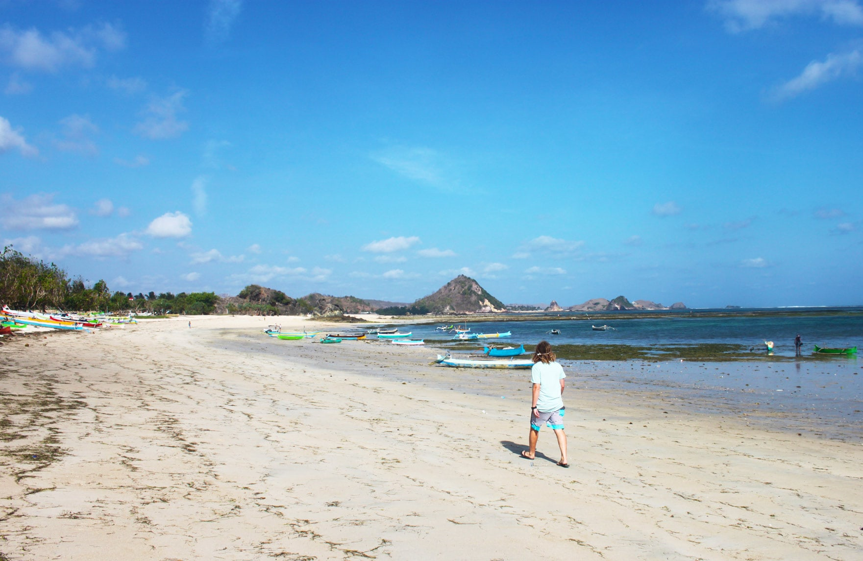 The cheapest destination I've visited so far! The south coast of Lombok, Kuta beach