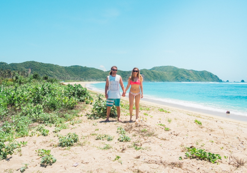 How to experience the incredible south coast of Lombok on a budget - Secret beach