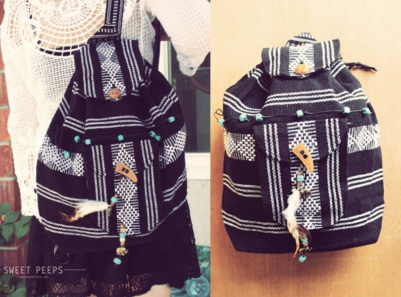 Gift Ideas perfect for travel girls - Bohemian aztec backpack