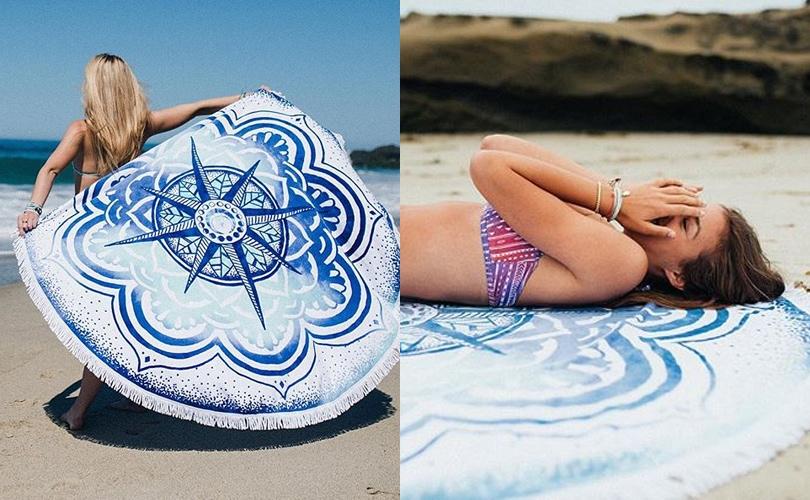 10 gift ideas for travel girls - Pura Vida Lunar Paradise beach towel