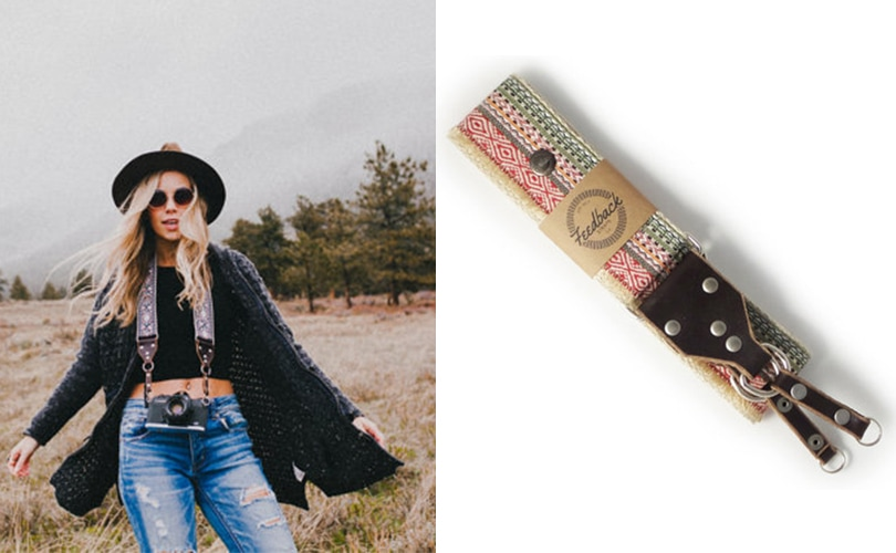 10 gift ideas for travel girls - Hemp personalized camera strap