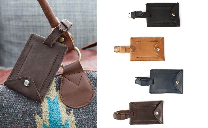 10 gift ideas for travel girls - Ethiopian leather luggage tags