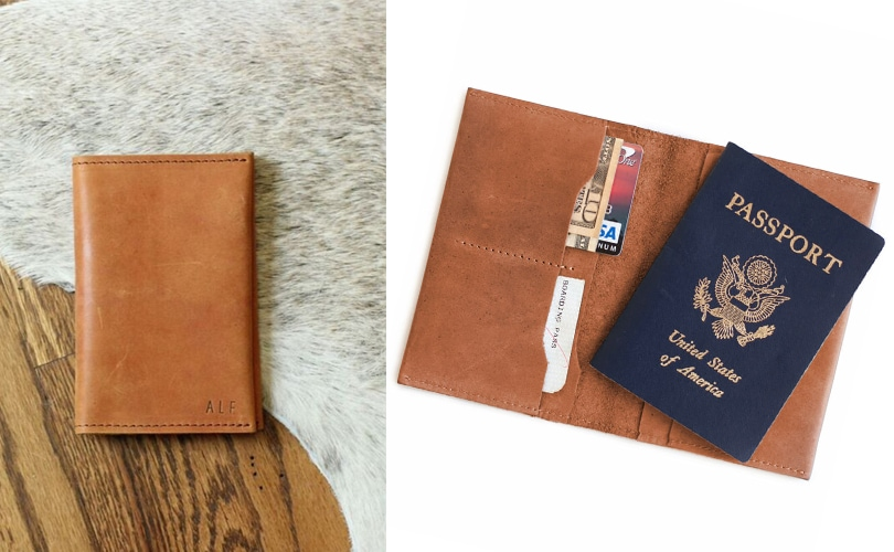 10 gift ideas for travel girls - Ethiopian leather passport wallet