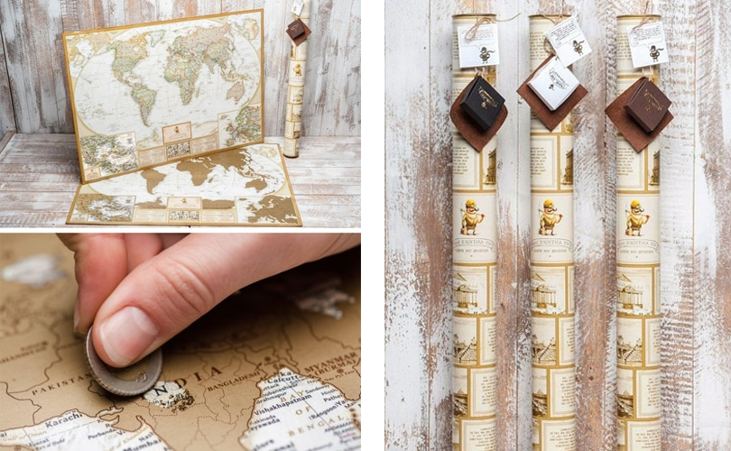 10 gift ideas for travel girls - High quality world scratch map
