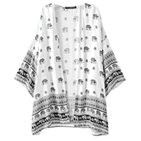The perfect travel outfit for hot climate - White elephant kimono
