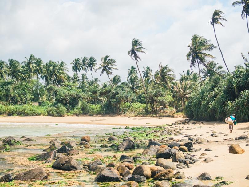 Talalla Beach, Sri Lanka - Local ladies working