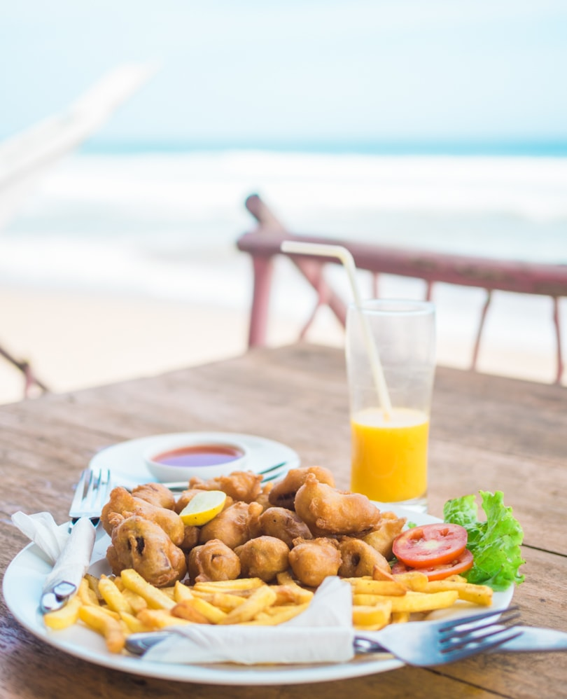 Talalla Beach, Sri Lanka - Fish restaurant