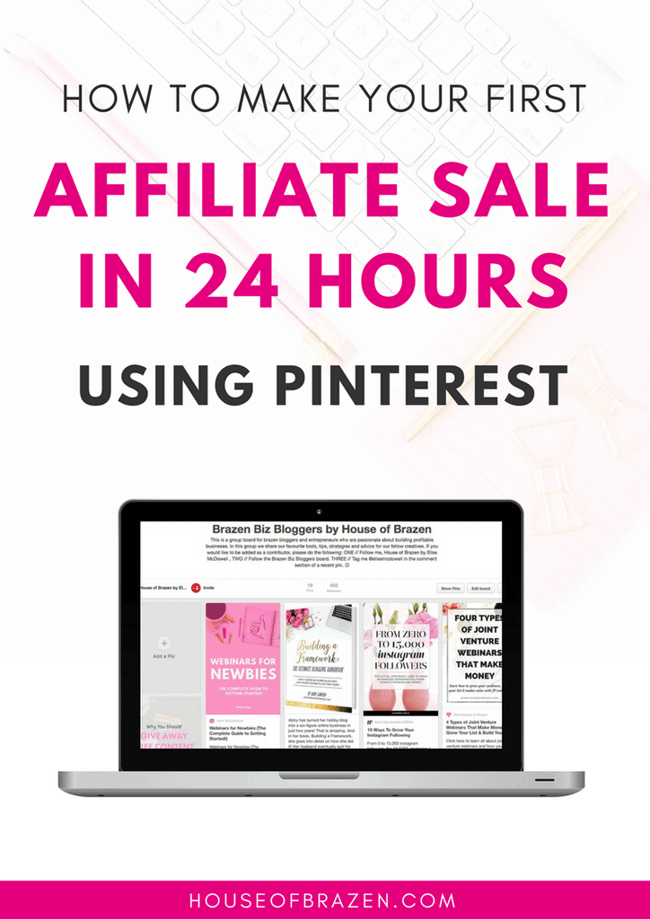 How to earn money blogging - Make your first affiliate sale in 24 hours
