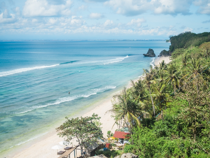 Top 5 best beaches in Bali, Indonesia - Thomas Beach Padang Padang