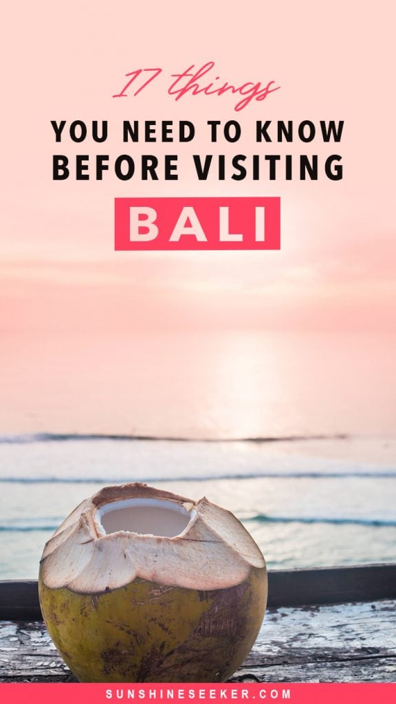 17 important things you need to know before visiting Bali, Indonesia for the first time. Read about visa laws, transport, drinking water, ATMs, the culture, stray animals, what to stay away from and so much more #bali #indonesia #baliguide #important