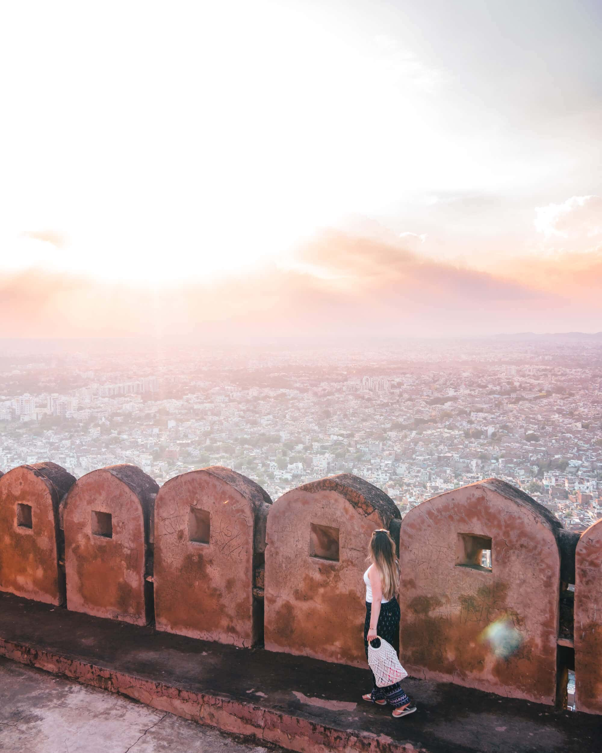 How to spend 2 days in Jaipur - sunset at Nahargarh Fort