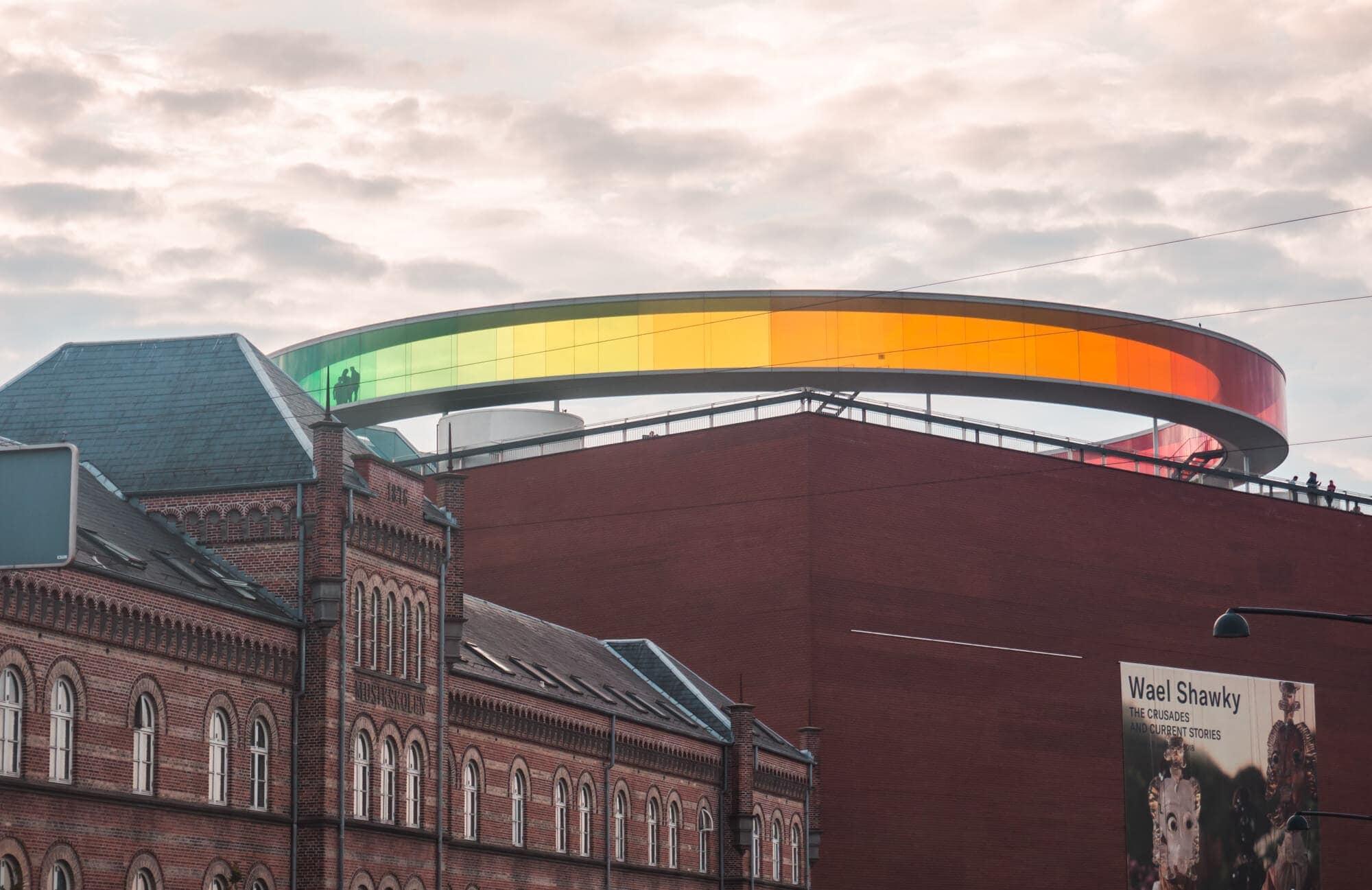 Two days in Aarhus - Denmark's happiest city. Your Rainbow Panorama at ARoS Aarhus Art Museum