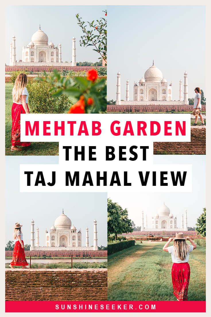 Mehtab Bagh or Moonlight Garden is the best place to view the Taj Mahal in all of Agra. Do not miss it! #TajMahal #Agra #India