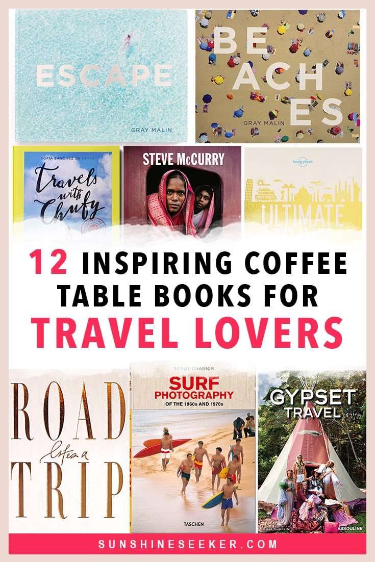 11 inspiring travel coffee table books every travel lover will love. The perfect gift for all the wanderlusters out there #travel #coffeetablebook #travelinspo