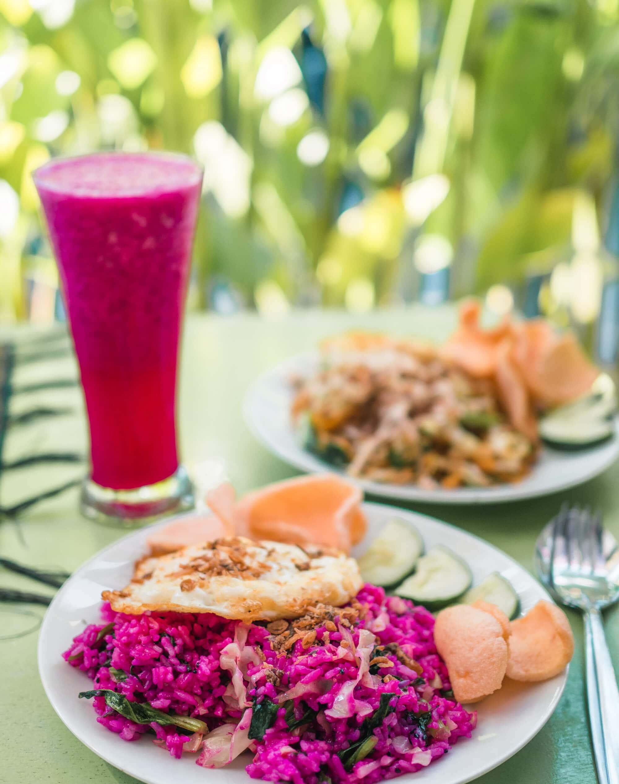 Island Life - Moving back to Bali & Lombok - Pink Nasi Goreng at Warung Anka in Legian
