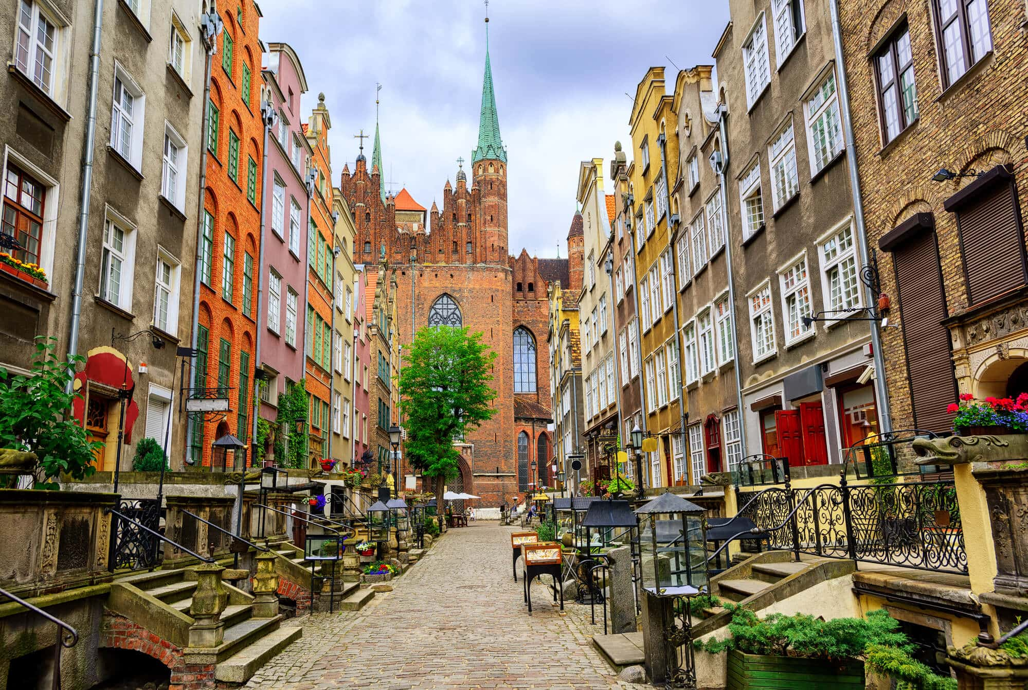 2 days in Gdansk, Poland - Mariacka Street with lots of amber shops and cafés