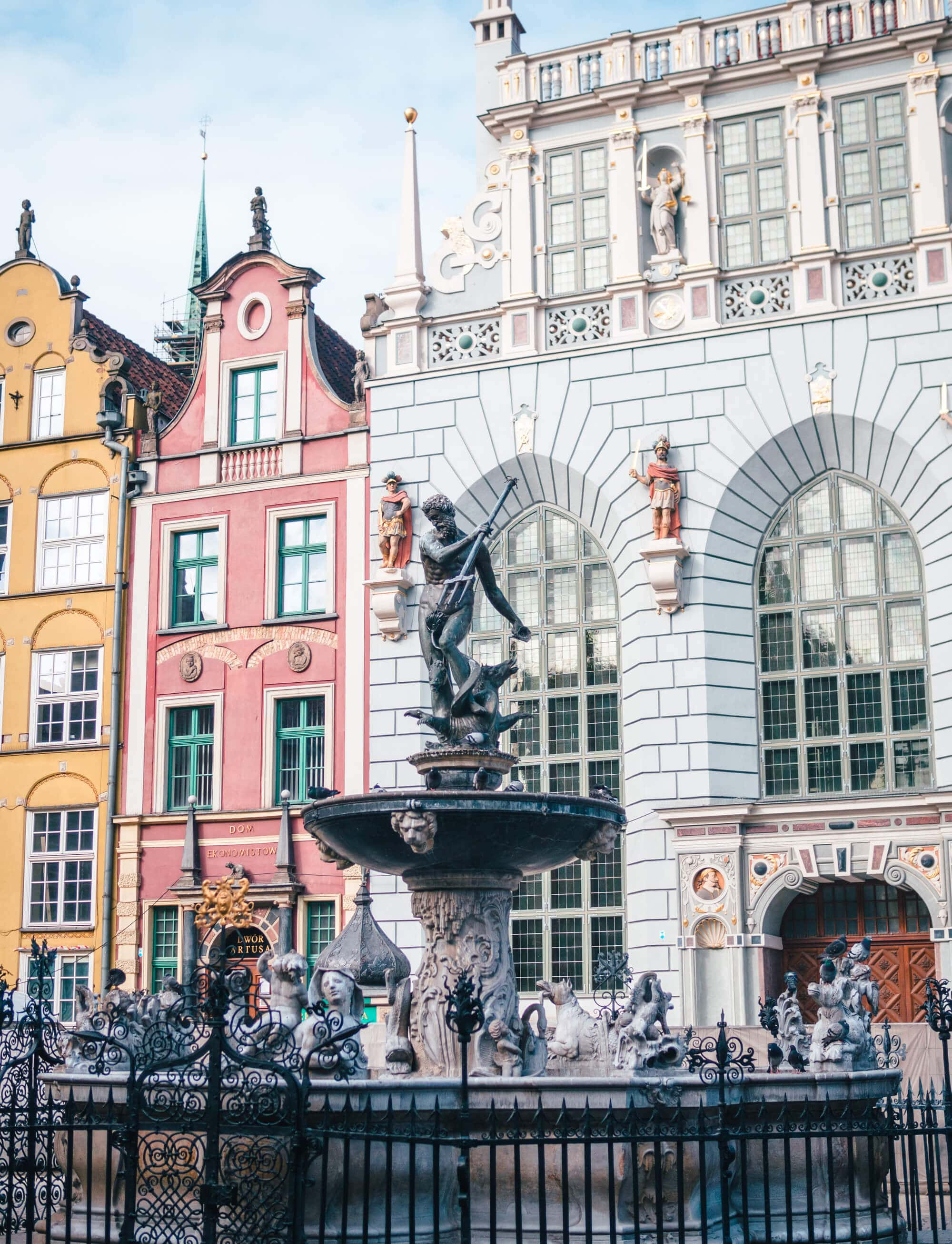 2 days in Gdansk, Poland - Neptune's Fountain at Długi Targ