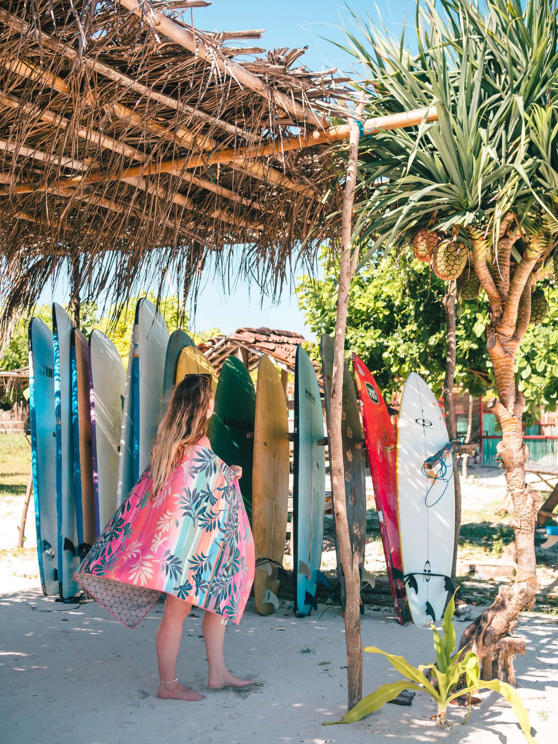 Follow along on our journey living in Kuta, Lombok for two months - Surfboards on Tanjung Aan Beach #lombok #kuta #indonesia #travelinspo #bucketlist