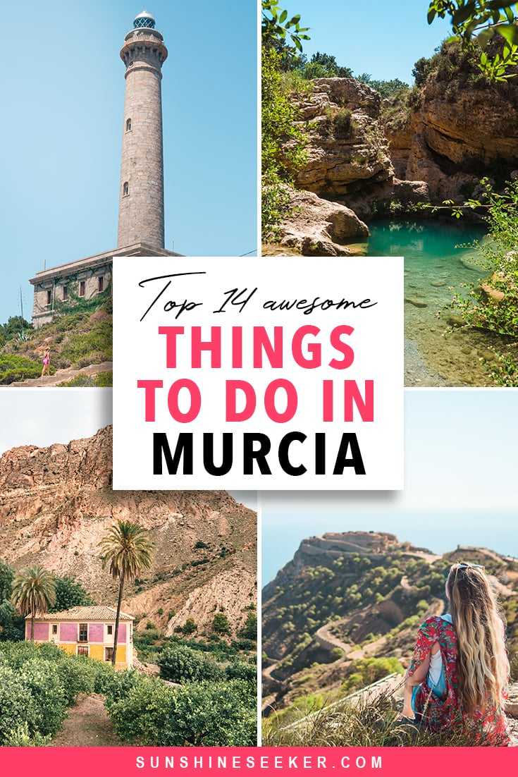 Murcia, Spain: Top 14 awesome things to do. From scenic villages in Ricote Valley to a hidden waterfall and impressive fortresses. The Region of Murcia has it all #murcia #spain #travelinspo #bucketlist #cartagena