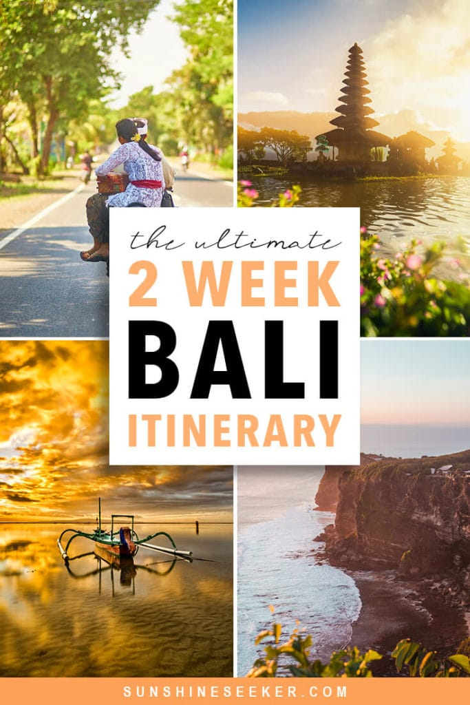 The ultimate 2 week Bali itinerary. What to do and where to stay #bali #baliguide #nusalembongan #uluwatu #ubud