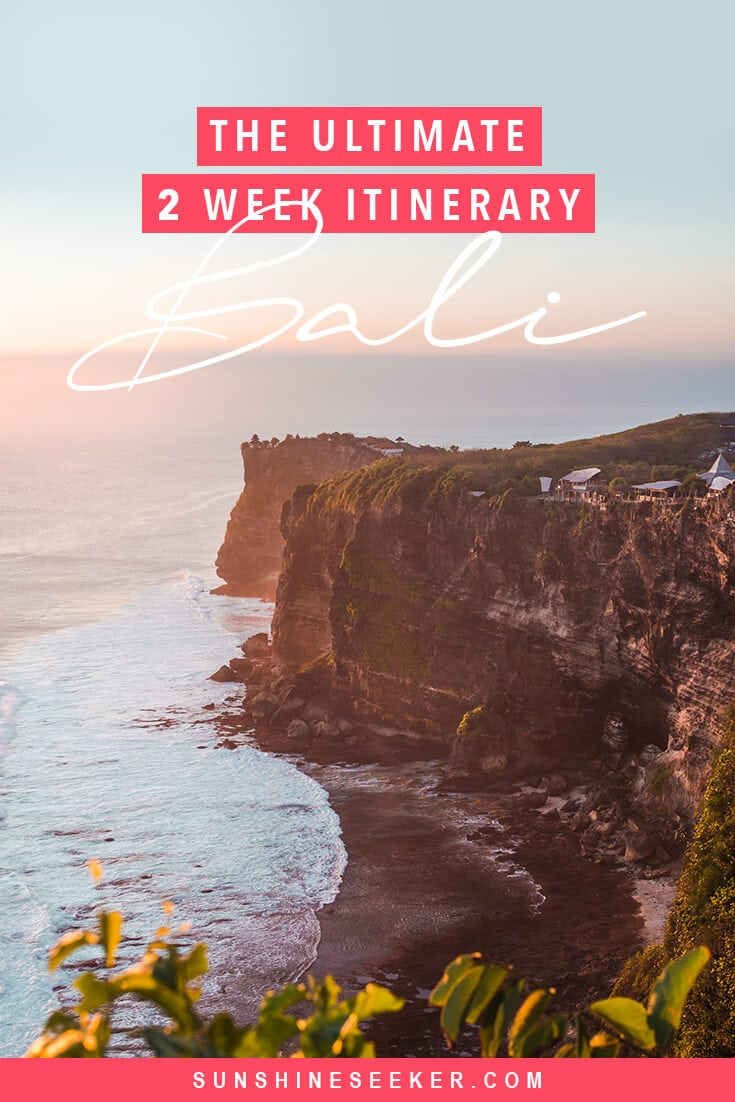 The ultimate 2 week Bali itinerary. What to do and where to stay #bali #baliguide #nusalembongan #uluwatu #ubud