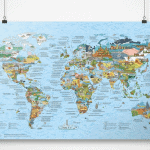 Awesome Maps Bucket List - Best travel gift ideas under $50 that are actually useful