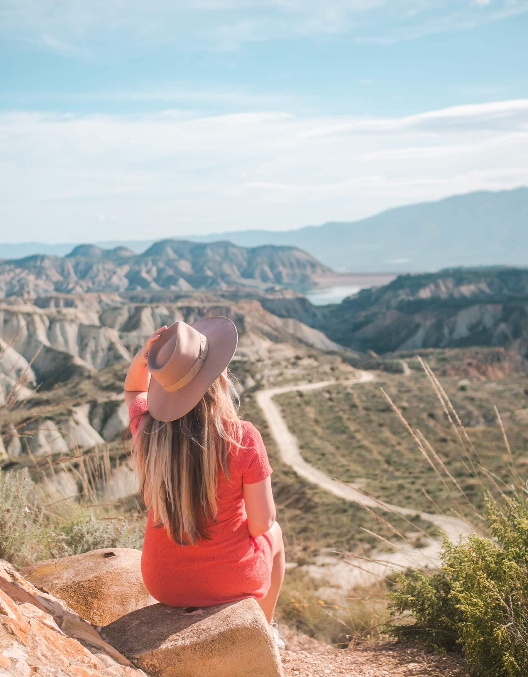 Mirador Barrancos de Gebas (also known as the Lunar Badlands) in Murcia, one of Spain's most beautiful natural wonders. One of the top things to do in Spain