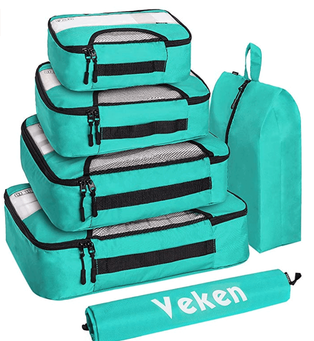 Colorful packing cubes - Best travel gift ideas under $50