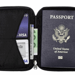 Anti-theft passport holder / travel document organizer - Best useful travel gift idea under $50