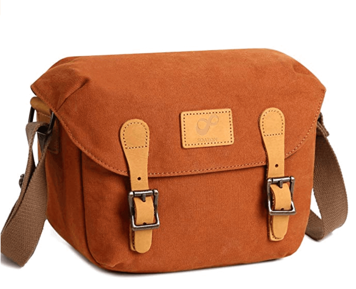Stylish canvas camera bag - Best travel gift idea under $50