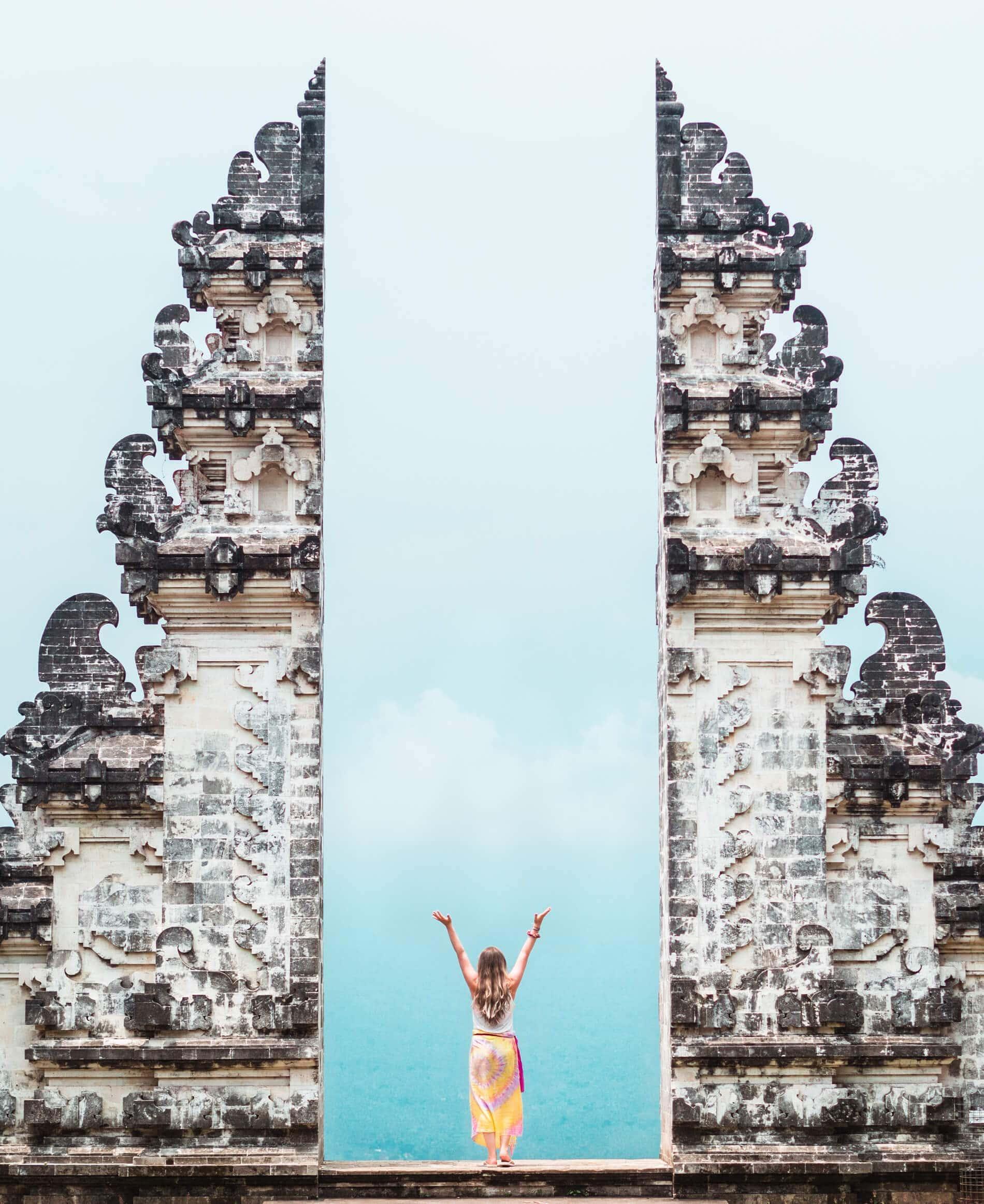 Sunrise at Pura Lempuyang Temple is a must when exploring East Bali