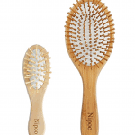 Sustainable travel gift ideas - Bamboo travel size hairbrush