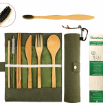 Sustainable travel gift ideas - Reusable bamboo cutlery set