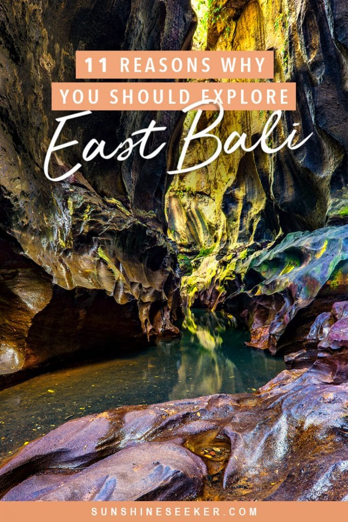 11 of the top things to do in East Bali. From secret canyons to hidden waterfalls. Find out why you should add East Bali to your bucket list now #bali #eastbali #bucketlist #travelinspo #puralempuyang