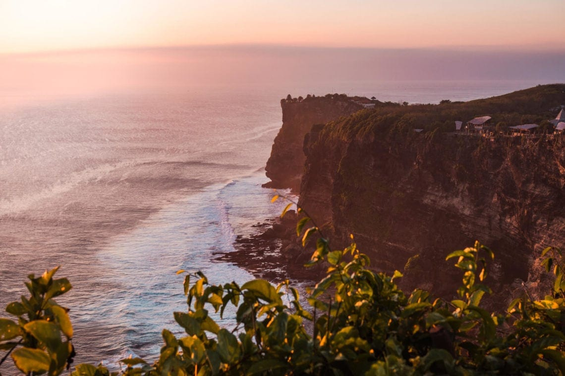 The ultimate 2 week Bali itinerary - Sunset at Karang Boma Cliff in Uluwatu