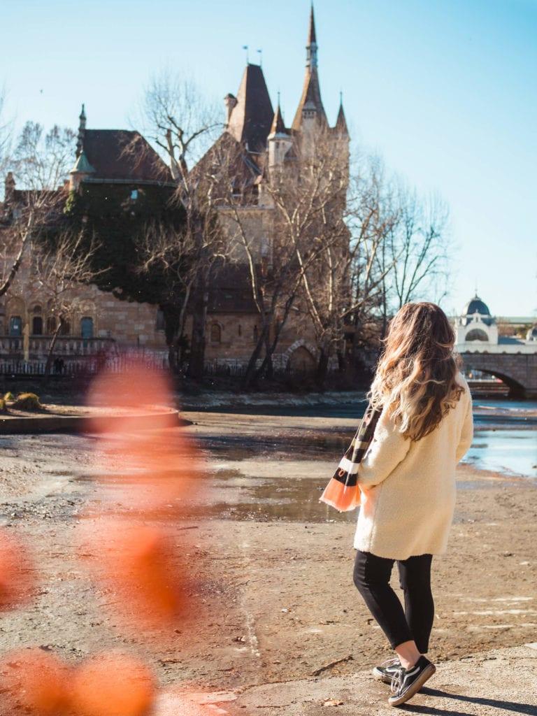 Budapest Instagram photo guide - Vajdahunyad Castle in winter